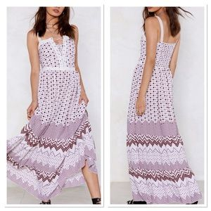 Nasty Gal Lace up Dress